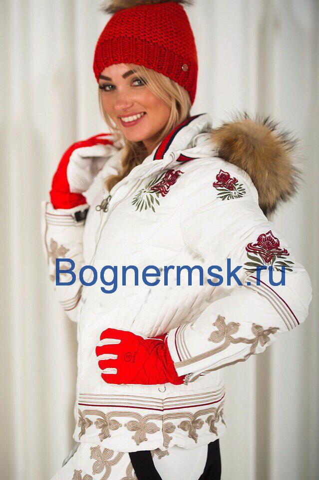 a3a870a6495 Женский горнолыжный костюм Bogner белого цвета