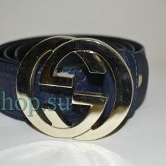 Ремень Gucci синего цвета