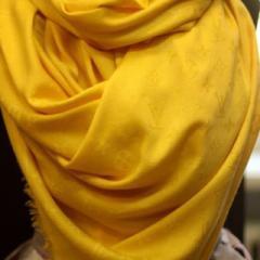 Палантин Louis Vuiton желтый без люрекса