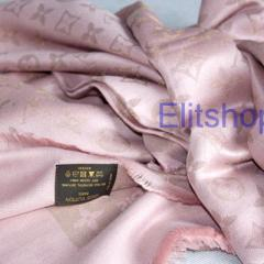 Палантин Louis Vuitton monogramm lurex shawl pink
