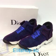Кроссовки женские Dior синего цвета