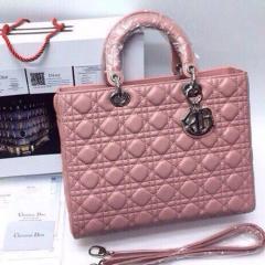 Сумка Dior Lady розового цвета