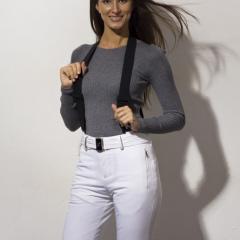 Женский горнолыжный костюм Bogner белого цвета