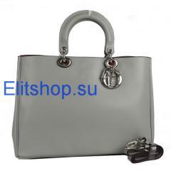 купить сумку Dior diorissimo серого цвета интернет магазин