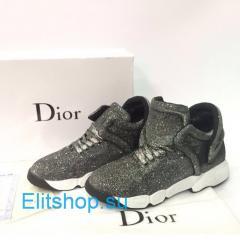 Кроссовки Dior блестящие
