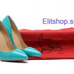 Туфли лодочки Christian Louboutin голубого цвета