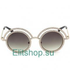 купить круглые очки Chanel с декором интернет магазин