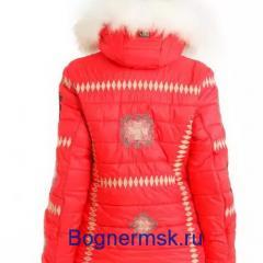 Горнолыжный костюм Bogner женский красного цвета