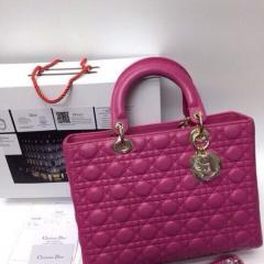 Сумка Dior Lady цвет фуксия