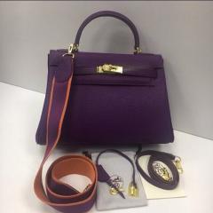 Сумка Hermes Kelly Togo 32 фиолетового цвета