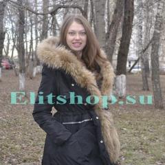парка с густым мехом енота купить в интернет магазине в москве