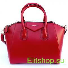 купить женскую красную сумку из натуральной кожи
