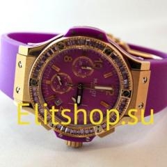 купить женские часы Hublot фиолетового цвета