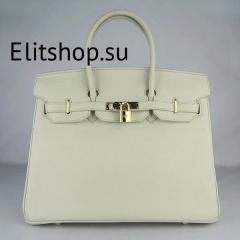 купить сумку hermes birkin белого цвета