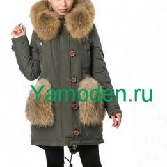 купить женскую парку Burberry с мехом интернет магазин в Москве