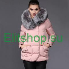 купить куртку с мехом чернобурки по капюшону дешево