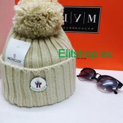 купить шапку женскую Moncler с помпоном