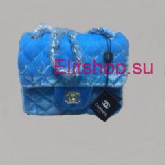 купить велюровый клатч Chanel 15 см сумочка шанель 15 см