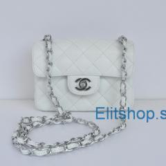 купить маленькую сумочку chanel mini белого цвета