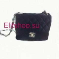 сумочка Chanel бархат купить 15 см в интернет магазине