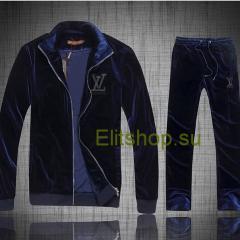 купить велюровый костюм Louis vuitton синего цвета