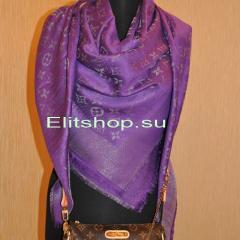 шаль Louis Vuitton фиолетового цвета купить