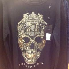 купить мужскую кофту с черепом, свитер мужской филипп плейн купить