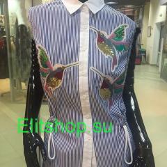 купить рубашку gucci женскую с птичкой в интернет магазине