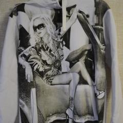 Толстовка женская на флисе с капюшоном