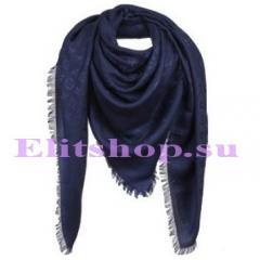 шаль Louis Vuitton синего цвета купить