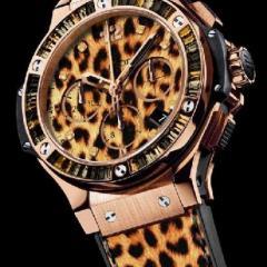 часы женские леопардового цвета с хронографом