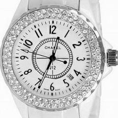 купить женские часы Chanel со стразами керамика